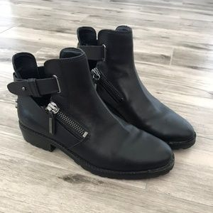 Dolce Vita Booties with zippers + buckles / Sz 8.5